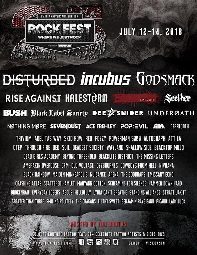 Disturbed, Incubus + Godsmack Lead 2018 Rock Fest Lineup Read More: Disturbed, Incubus + Godsmack Lead 2018 Rock Fest Lineup | https://loudwire.com/disturbed-incubus-godsmack-lead-2018-rock-fest-lineup/?utm_source=tsmclip&utm_medium=referral
